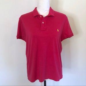 Ralph Lauren Sport Slim Fit Polo Shirt Pink XL